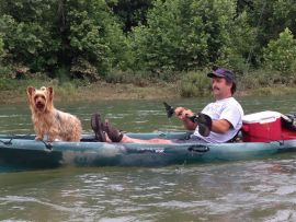 Canoeing near Yellville Arkansas