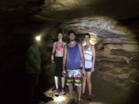 Exploring caves in the Ozarks