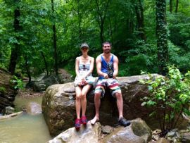 Exploring creeks in the Ozarks