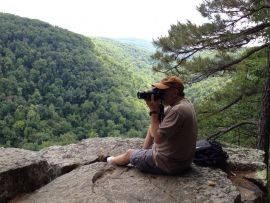 Exploring mountains in the Ozarks