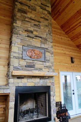 Fireplace at our Ozark vacation retreat