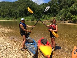 Kayaking on White River Arkansas