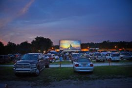 Cars at the Ocala Drive-In Theatre
