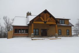 Our Ozark Lodge Rental in the Snow