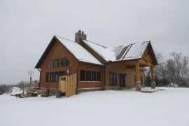 Our vacation lodge in the snow