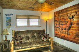 Rustic Furnishings throughout our vacation lodge