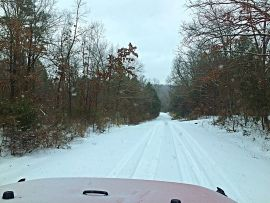 Snow in the Ozark Mountains