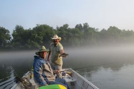 White River fishing and lodging